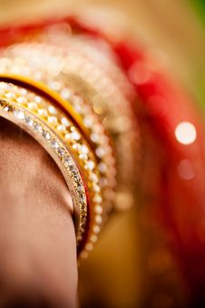 Free Decorative Bridal Bangles Stock Image - 34680301