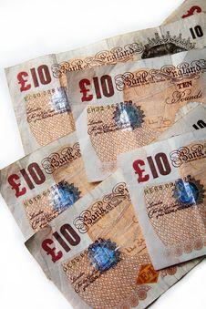 Free Ten Pound British Banknotes Stock Photos - 34681973