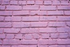 Free Pink Brick Wall Royalty Free Stock Photography - 34682847