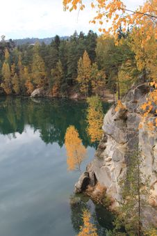 Autumn In The Mountains Teplice Stock Photography