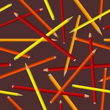 Free Color Pencils Pattern Royalty Free Stock Photo - 34684565