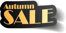 Free Autumn Sale. Stock Images - 34684954