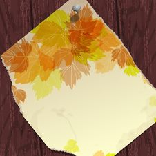 Free Autumn Background With Leaves. Stock Photography - 34685882
