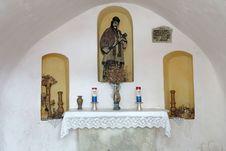Interior Of A Small Chapel Royalty Free Stock Photo