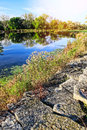 Free Autumn On The Lake Stock Photography - 34699692