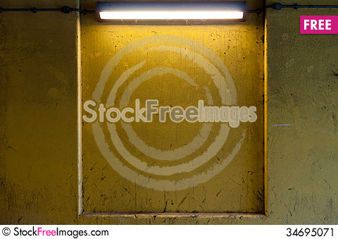 Free Dirty Wall With Strip Light Stock Image - 34695071