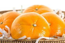 Free Oranges In Basket. Stock Photography - 34692762