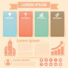 Business Infographics Banner Stock Photography