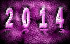 Free Happy New Year 2014 Stock Photography - 34697282