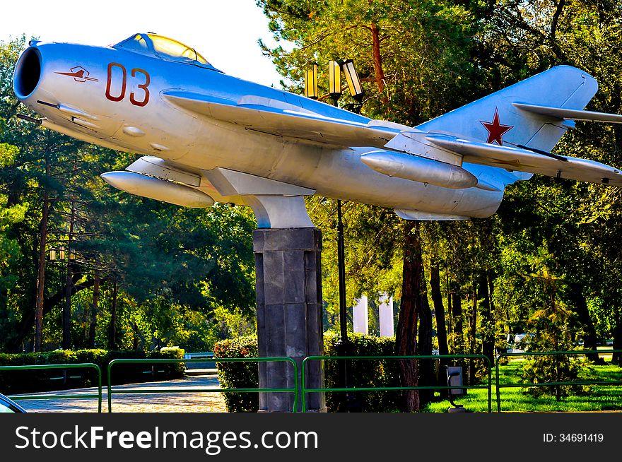The city of Orenburg details MiG 17