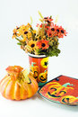 Free Hallowwen Flowers With A Pumpk Stock Images - 3470384