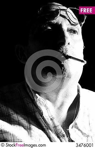 Free Smoking Man Stock Image - 3476001