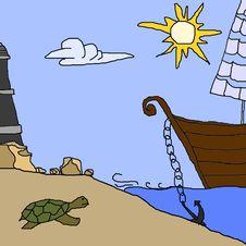 Free Sea Shore Stock Photo - 3471330