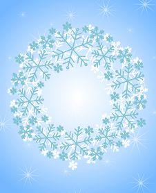 Free Snowflake Christmas Wreath Royalty Free Stock Photo - 3473195
