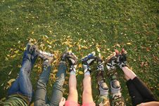 Free Roller Legs On The Grass Royalty Free Stock Images - 3473729