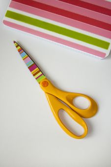 Free Scissors And Copybook Stock Photo - 3473780