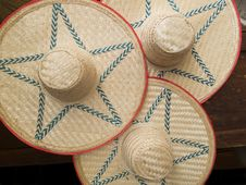 Straw-hats Stock Images