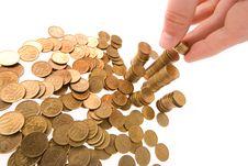 Many Money Coins Royalty Free Stock Photo
