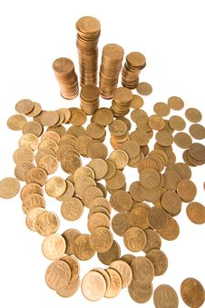 Many Money Coins Royalty Free Stock Photography