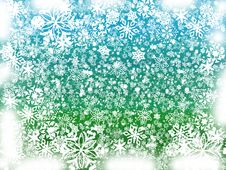 Free Winter In Green And Blue Royalty Free Stock Photography - 3474237