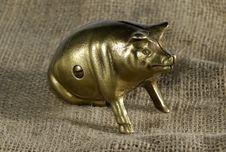 Free Brass Piggybank Stock Image - 3474391