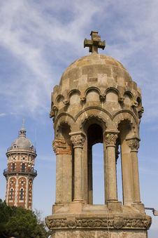 Free Towers At Tibidabo Royalty Free Stock Photos - 3474668