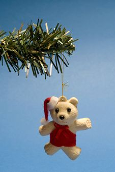 Free Christmas Teddy Stock Image - 3474871