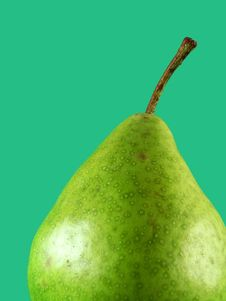 Pear On Green Stock Images
