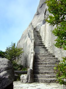 Stone Stair Royalty Free Stock Images