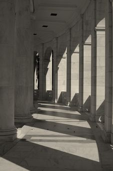 Cloister In Morning Sun Royalty Free Stock Photography
