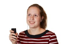 Free Girl With Mp3 Player Stock Photo - 3475970