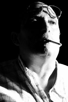 Free Smoking Man Stock Image - 3476001