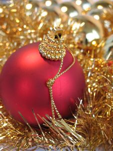Free Red Christmas Ball Royalty Free Stock Photos - 3476528