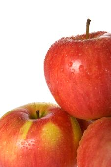 Free Wet Red Apples Stock Images - 3477264