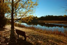 Free Seat And River Royalty Free Stock Images - 3477689