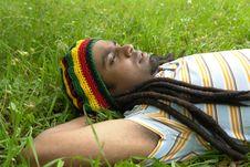 Sad Jamaican Thinking Royalty Free Stock Images