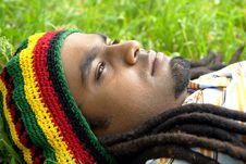 Sad Jamaican Thinking Royalty Free Stock Image