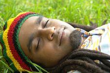 Free Happy Jamaican Sleeping Stock Image - 3478391