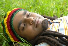 Free Happy Jamaican Sleeping Royalty Free Stock Image - 3478396