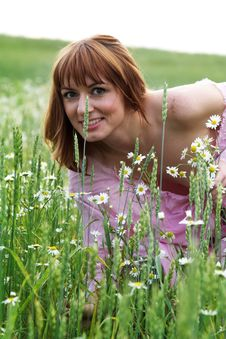 Free The Beautiful Girl On A Meadow Stock Photos - 3478473