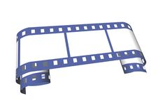 Free Blue Curled Film Royalty Free Stock Images - 3478489