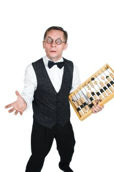 Free Man In Bow Tie With Abacus Stock Photos - 3478533