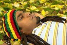 Sad Jamaican Thinking Stock Photos