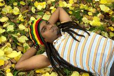Sad Jamaican Thinking Royalty Free Stock Photography