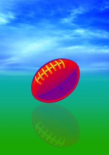 Free Football With Sky Royalty Free Stock Images - 3479419