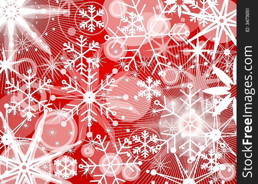 Snowflake Collage Background 2