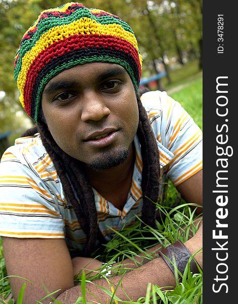 Happy Jamaican Smiling