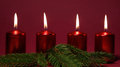 Free Red Candles Royalty Free Stock Image - 34705386