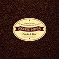 Free Coffee Menu Royalty Free Stock Photos - 34706878