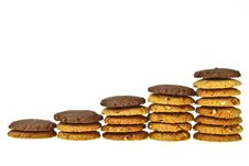 Free Brown Cookie Line Royalty Free Stock Photography - 34701397